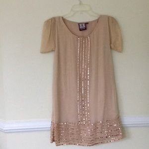 Anthropologie Metallic Formal Dress